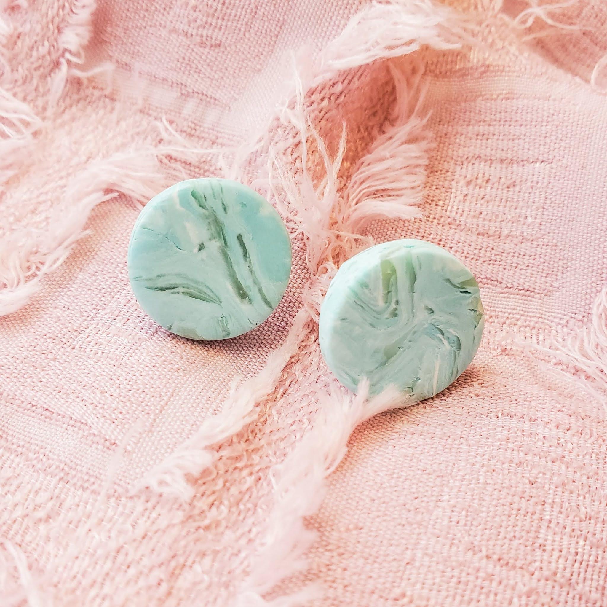 Polymer clay statement earrings - mini stella studs