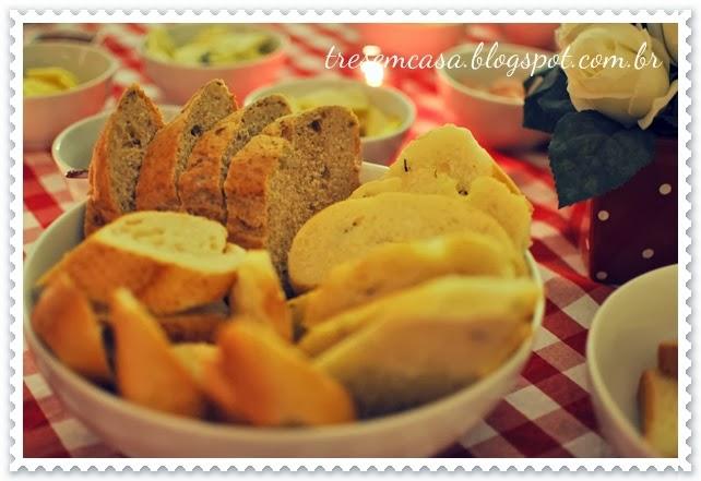 pães bruschettas