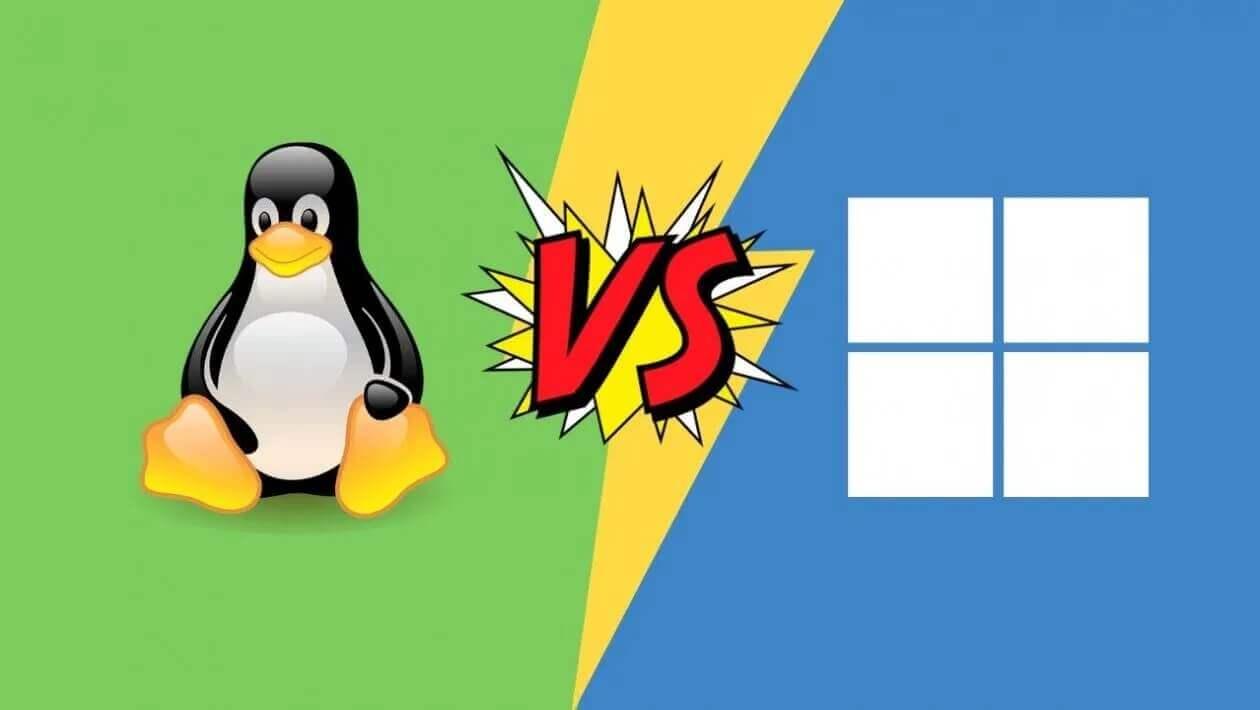 الفرق بين نظام التشغيل لينكس ونظام التشغيل مايكروسوفت ويندوز