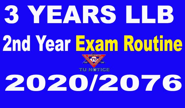LLB 2nd year Routine 2020
