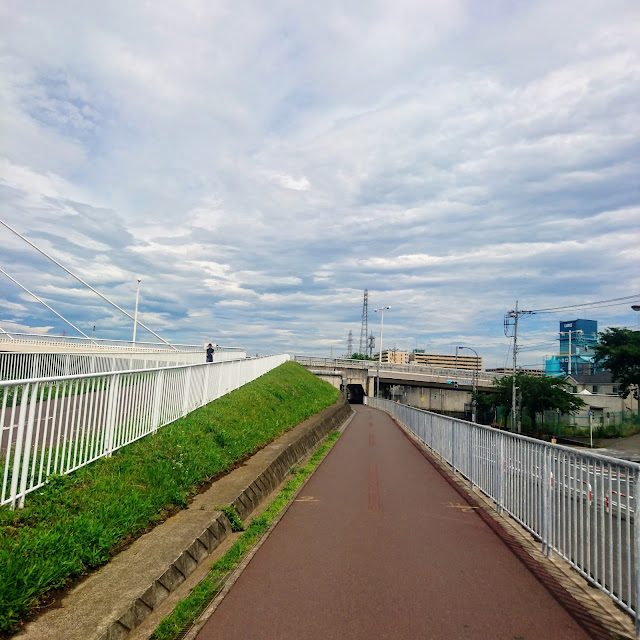 多摩川サイクリングロード 四谷橋
