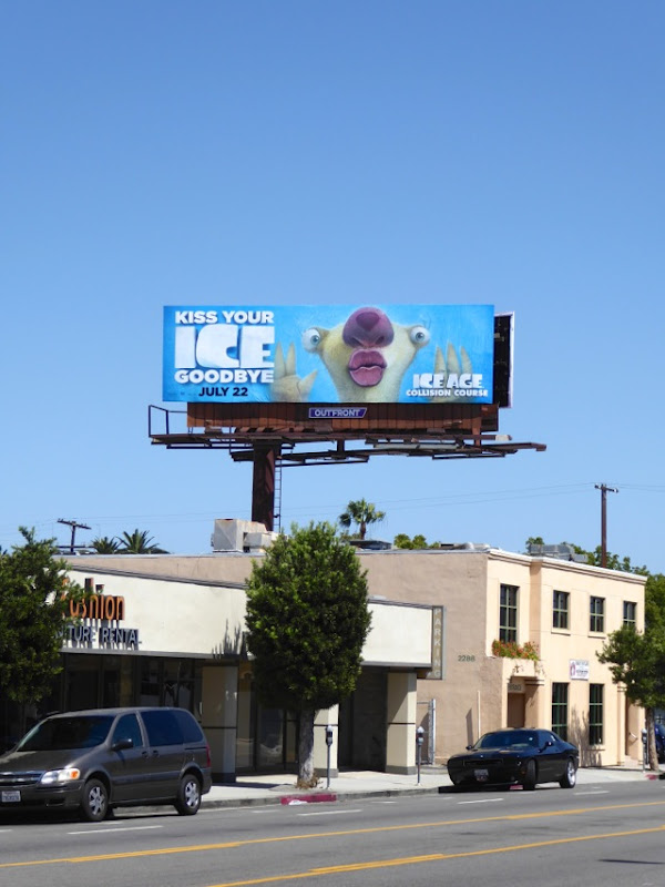 Ice Age Collision Course Sid Sloth billboard