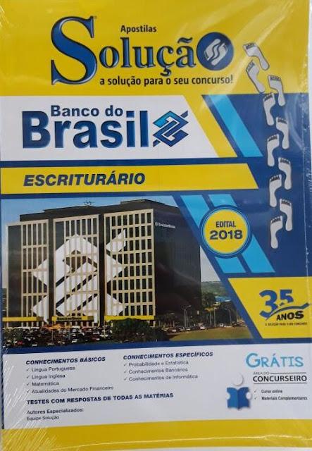 Banco do Brasil- escriturário, valor R$50,00