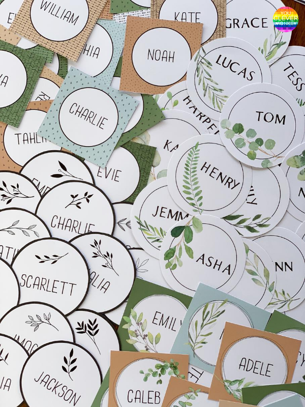 MODERN FARMHOUSE Classroom Labels + Signs Pack | you clever monkey