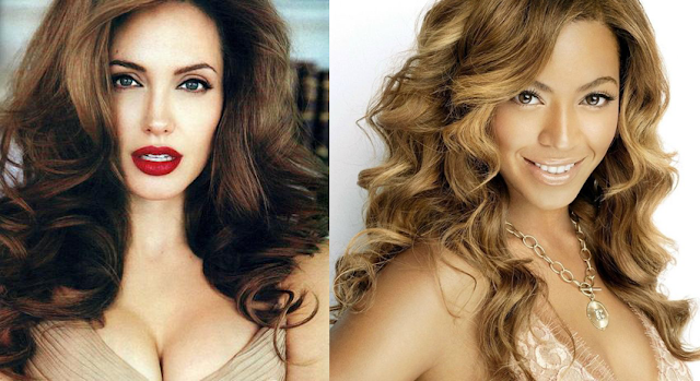 Angelina Jolie and Beyonce Knowles