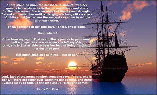 Henry Van Dyke Poem Gone From My Sight