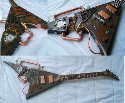 Imagenes de Guitarra steampunk muy creativa