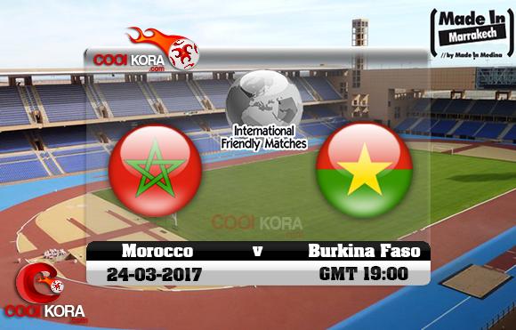 مشاهدة مباراة المغرب وبوركينا فاسو اليوم 24-3-2017 مباراة ودية