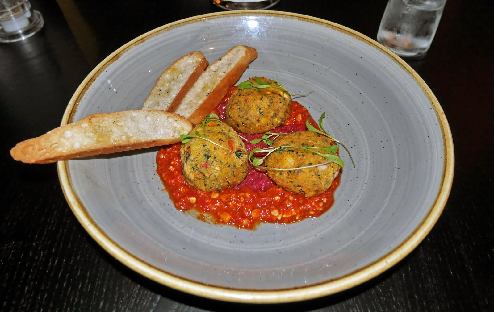 Falafel starter at The Horseshoes in East Farleigh, Kent