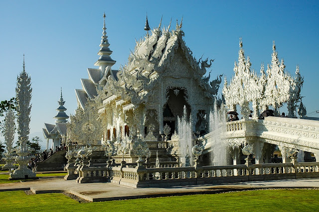 Thailand ching rai white tample