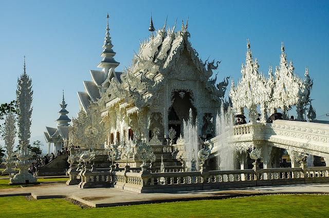Thailand ching rai white tample