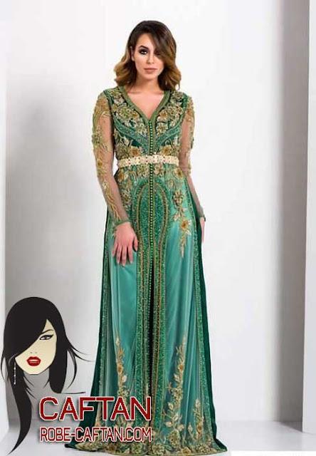 Caftan marocain / un choix pour une couture de luxe 2017
