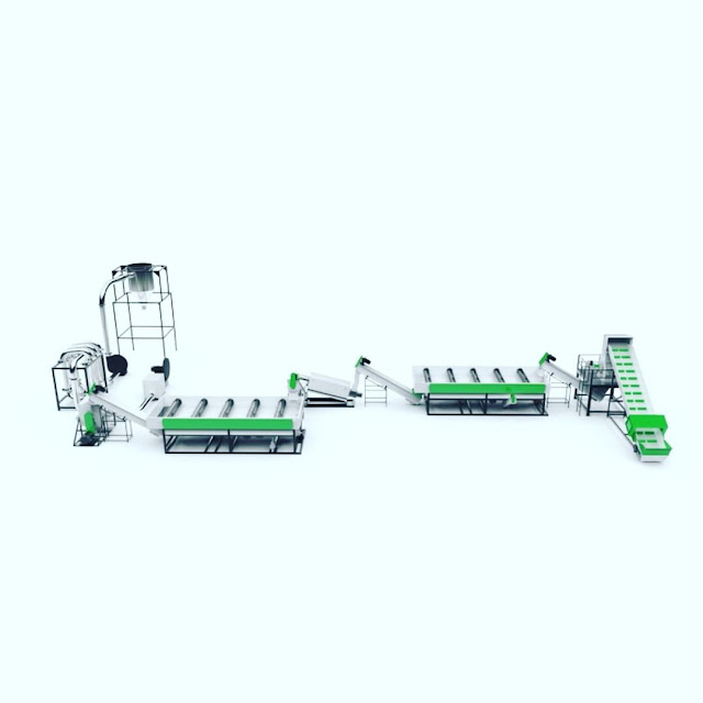 Plastic Washing Recycling Line, Plastic Recycling Machine, Single Screw Recycling Machine