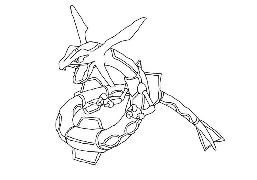 Legendary Rayquaza Pokemon Coloring Pages Free Pokemon Coloring Pages