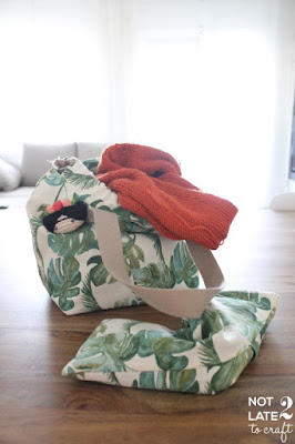 Repte 12 mesos 12 teles: bossa projectes i coixí cervical / Challenge 12 months 12 fabrics: project bag and neck pillow