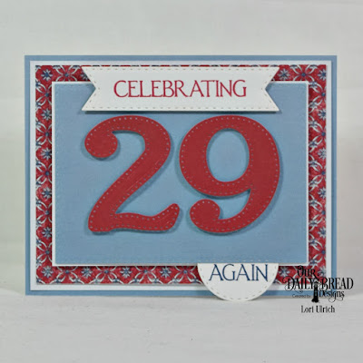 Our Daily Bread Designs Stamp Set: Celebration, Custom Dies: Large Numbers, Double Stitched Rectangles, Double Stitched Pennant Flags, Double Stitched Circles, Paper Collections: Old Glory, Americana Quilt