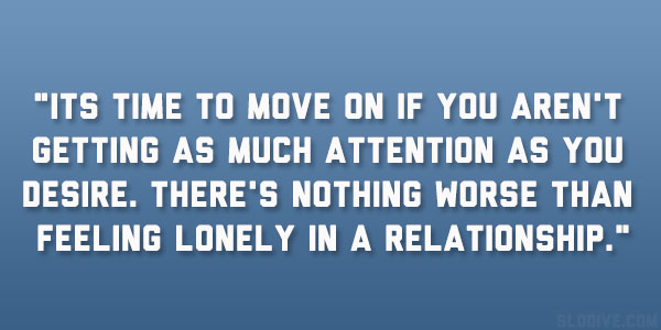 Feelings of loneliness in a relationship