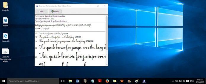 Inilah Cara Mudah Mengubah Font default pada Windows 10