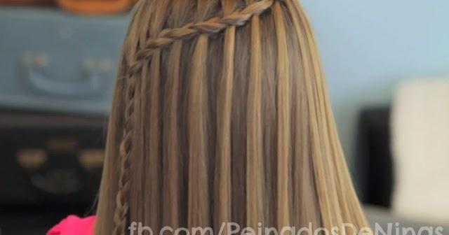 Peinados Con Trenzas Cascada Para Ni 209 As Simple Y Doble