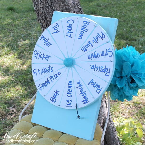 How to Make a DIY Spinner Prize Wheel perfect for carnival or party