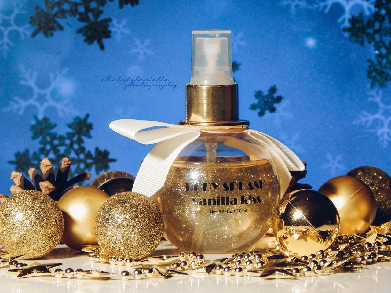 vanilia kiss h and m body splash mgielka o zapachu waniliowym aromat swiat hm mgielka do ciala z drobinkami brokatu prezent