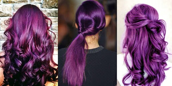 Rock Your Hair With Deep Purple Color