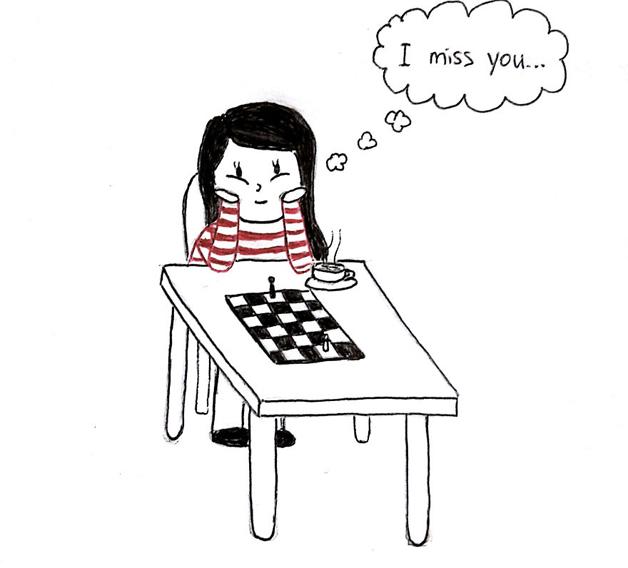 Você já teve um namoro a distância? Série de ilustrações mostra se vale a pena