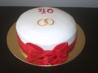 Resultado de imagem para bolo de 40 anos de casada