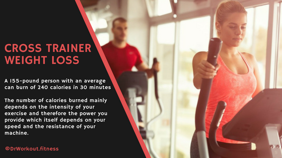 Cross trainer calories burned