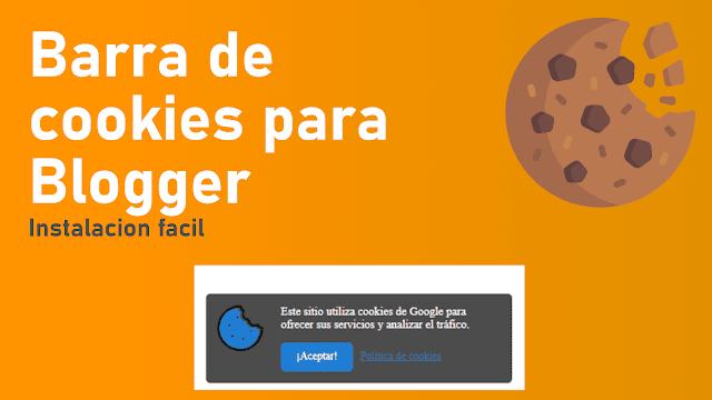 Aviso de cookies para Blogger