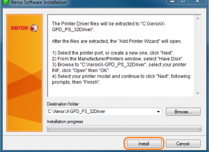 xerox v4 print driver install
