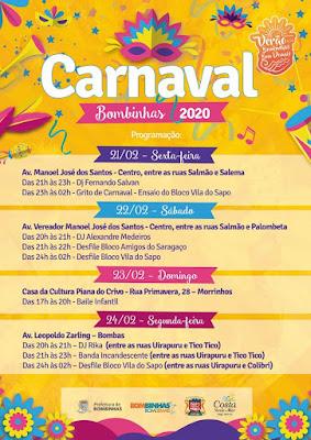 Carnaval em Bombinhas 2020