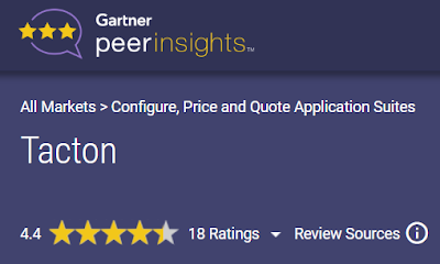 Tacton Peer insight by Gartner