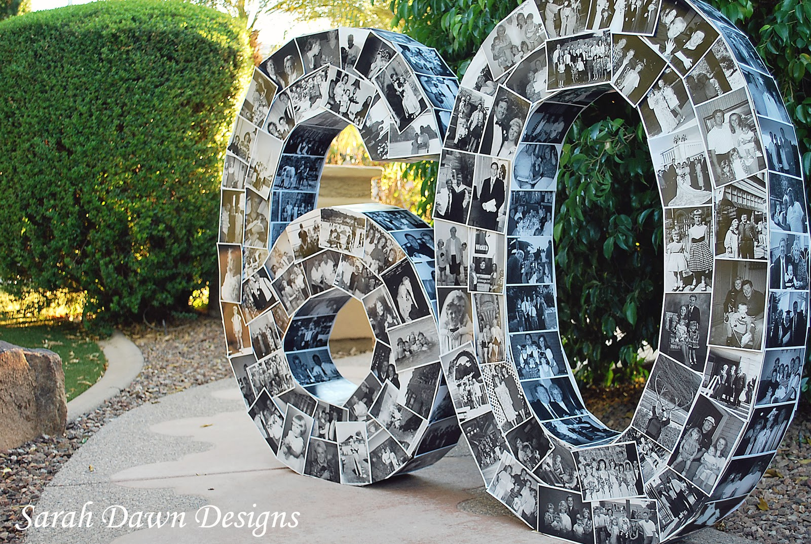 Sarah dawn designs happy 60th birthday and the photo numbers for 60 s decoration ideas