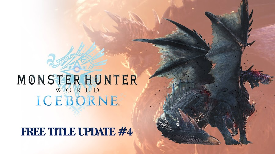 monster hunter world iceborne free title update 4 dlc expansion alatreon blazing black dragon ps4 xb1 action rpg capcom 2020