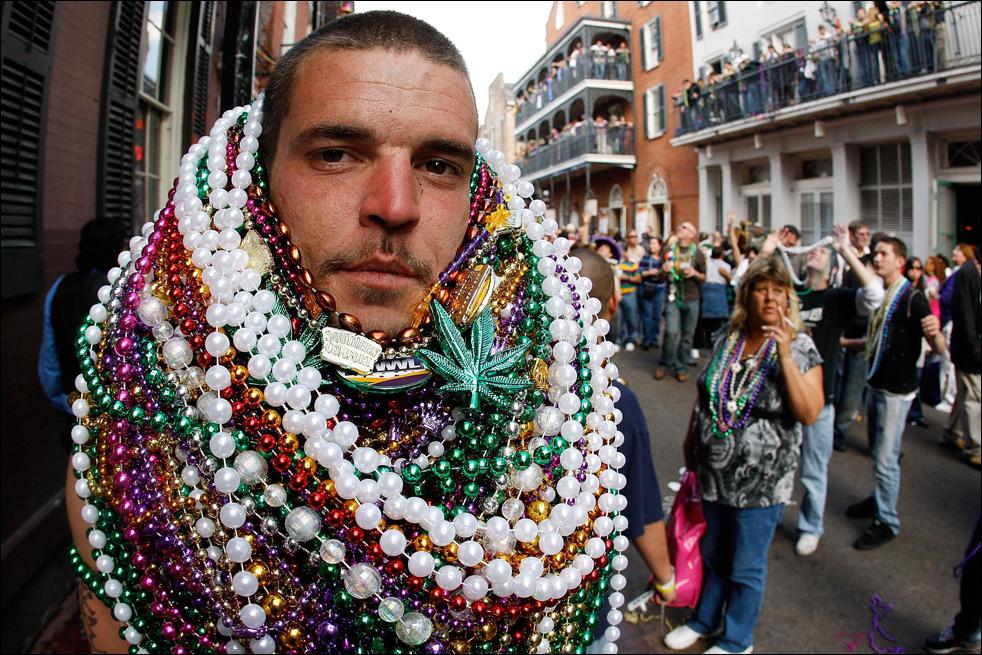 New orleans bourbon street beads boobs
