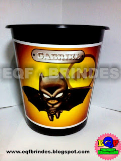 Baldinho de Pipoca Para Centro de Mesa Batman Kid, Lembrancinha Batman Kid, Tema Batman Kid, Festa Batman Kid, Brinde Batman Kid