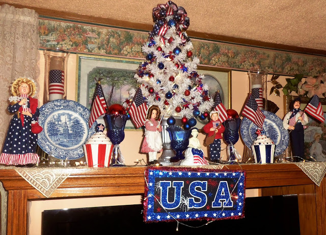 "Patriotic Tree #2 and ""Mantle"""