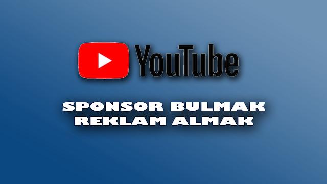 youtube sponsor bulmak