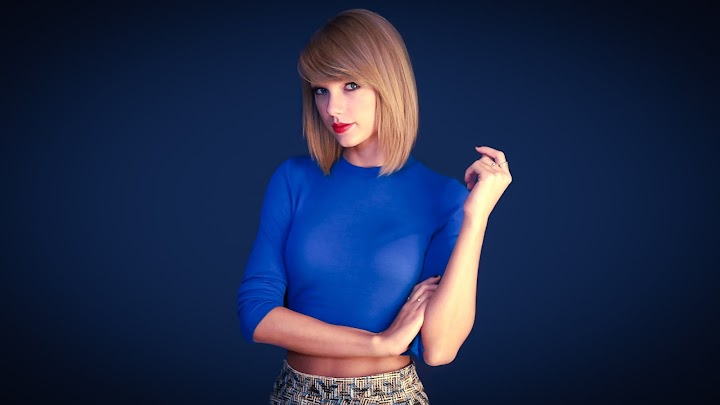 Taylor Swift Blue Dress HD Wallpaper