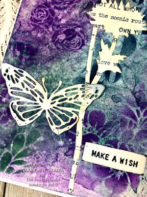 Sara Emily Barker https://sarascloset1.blogspot.com/2020/08/a-stenciled-mum-card-for-mom.html #stampersanonymous Mixed Media Card 7