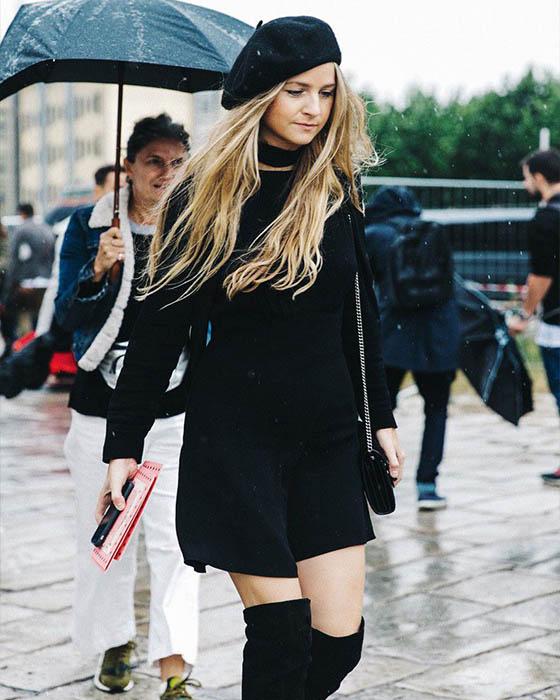 outfit casual con botas negras