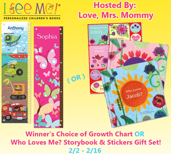 Blogger Opp: Winner's Choice of I See Me Growth Chart OR Who