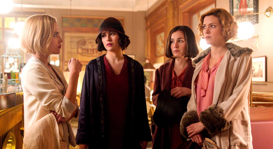 Carlota, Lidia, Marga y Ángeles en 'Las Chicas del Cable'