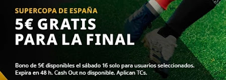 5 euros gratis con betfair final supercopa 17 enero 2021