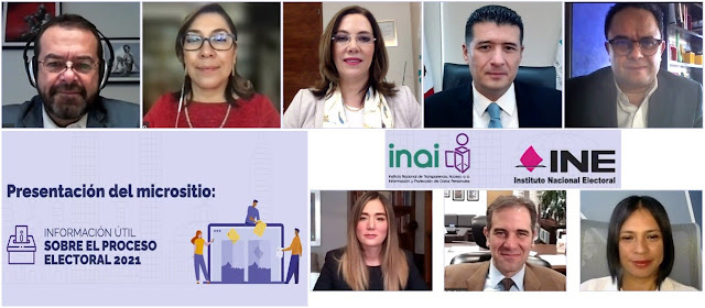 """INAI e INE ponen a disposición de la sociedad el micrositio """"Información útil sobre el proceso electoral 2021"""""""