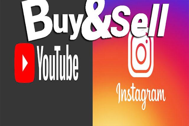 موقع بيع وشراء قنوات اليوتيوب وحسابات إنستغرام