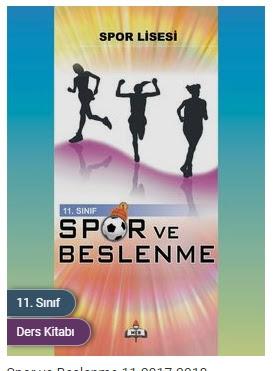 Spor ve Beslenme Meb Yayınları Ders Kitabı Cevapları