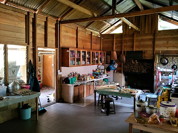 Lun Bawang Longhouse Kitchen Area