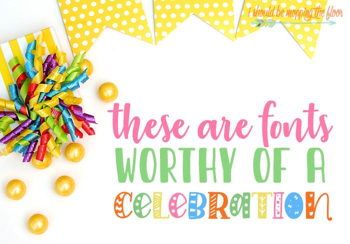 Celebration Fonts